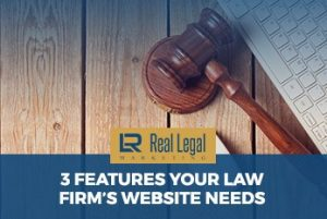 Gavel next to keyboard, law firm website concept
